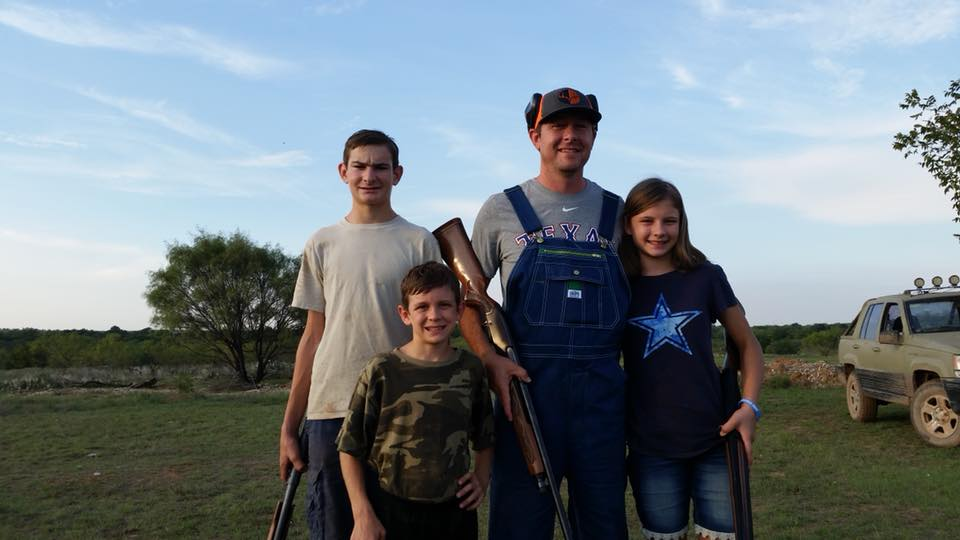 Target shooting with Pro Staffer Nick Latham and family