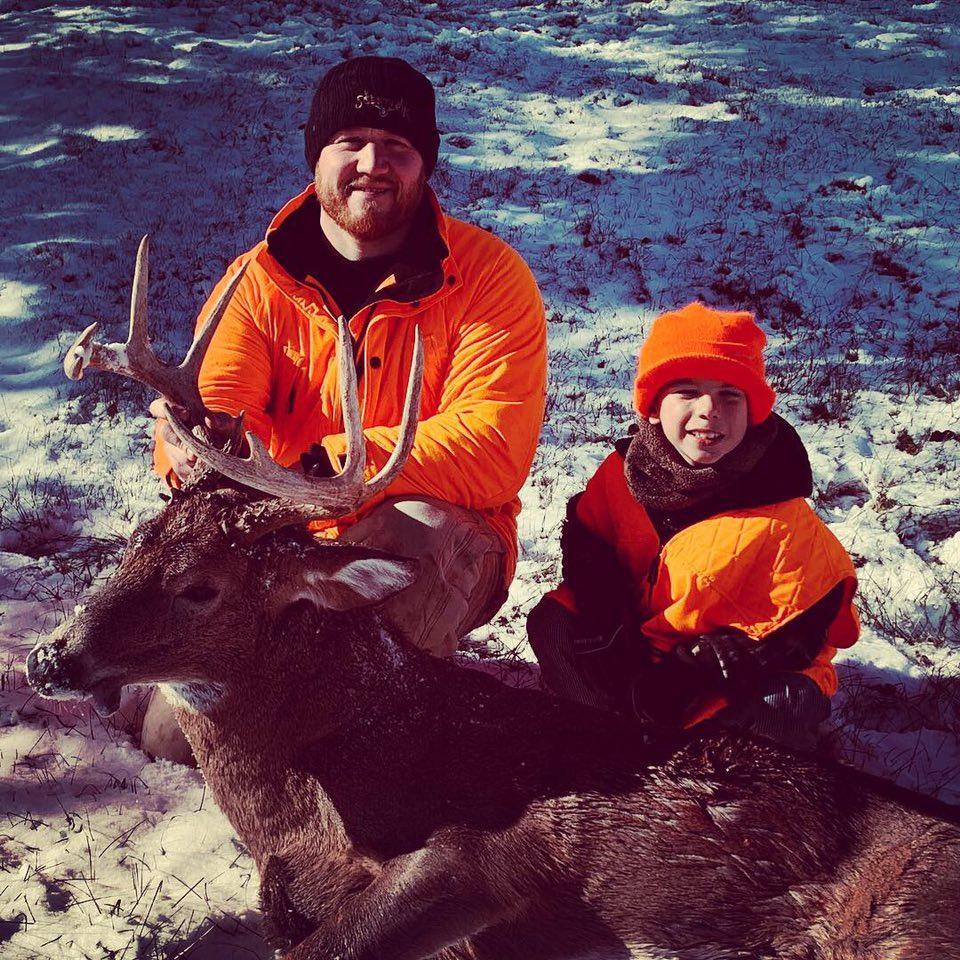 Pro Staffer Dustin Batton & son, Corbin - November, 2018  Wisconsin, Rifle   Corbin's first buck