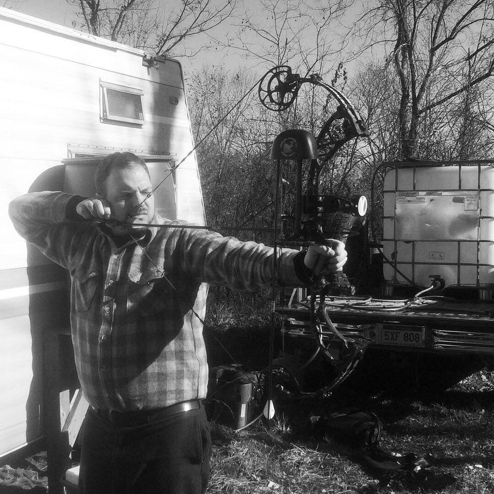 Field Staffer Jason Wandling practicing at his West Virginia deer camp