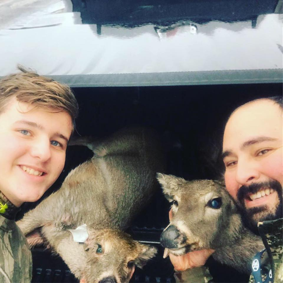 Field Staffer Anthony Sidari and son both filling doe tags in December, 2018