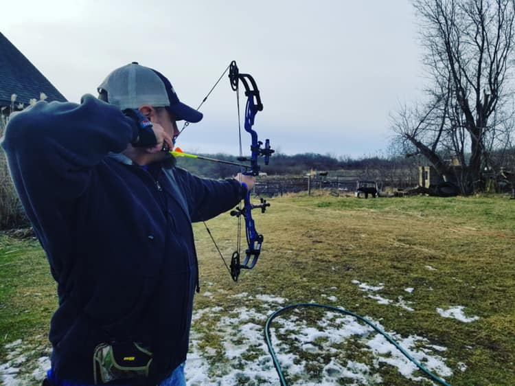 Backyard target practice with Field Staffer Todd Sellon