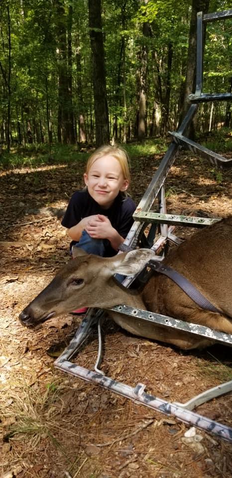 Pro Staffer Stephen Bowen's daughter with her first deer