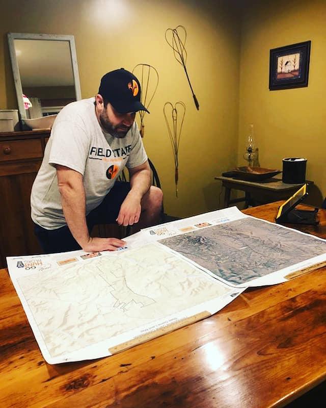 Field Staffer Jeff Kline studying local PA public land maps