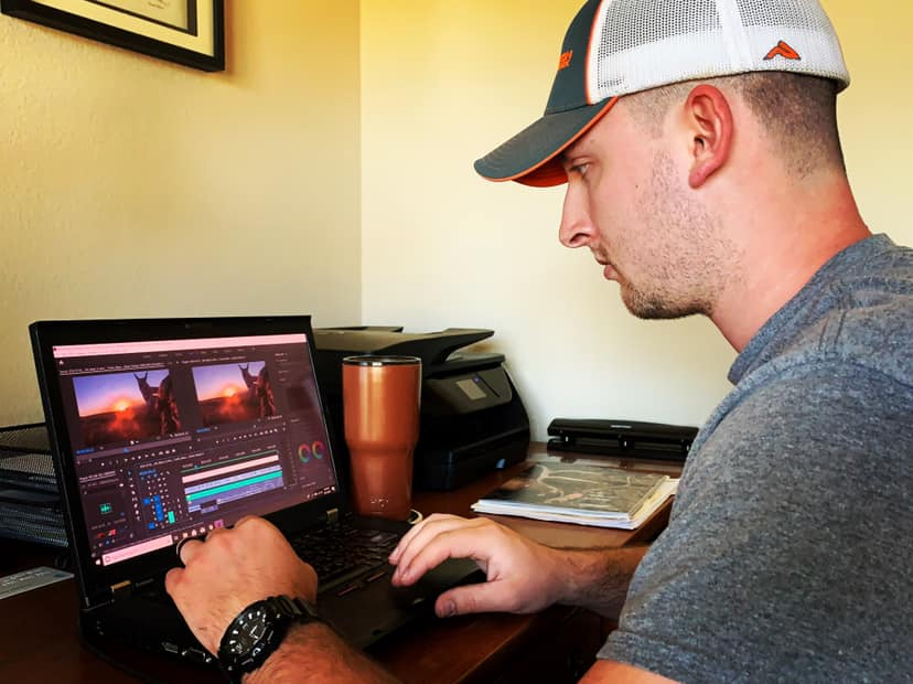 Admin Sam Thrash frequently spends countless hours of his own time editing videos to ensure our production quality remains high