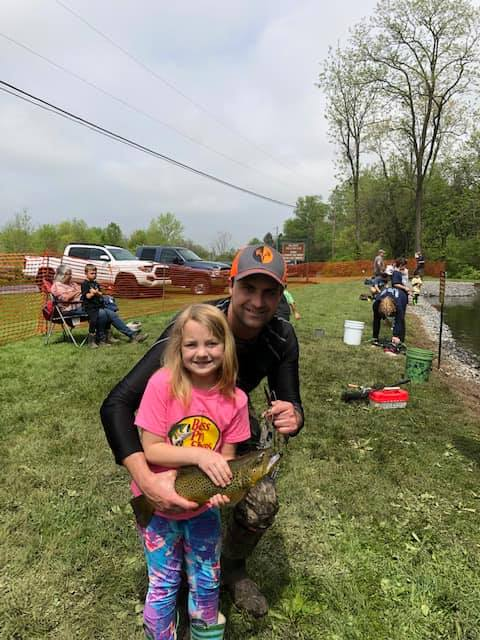 Field Staffer Adam Sites and his daughter at a local youth fishing tournament