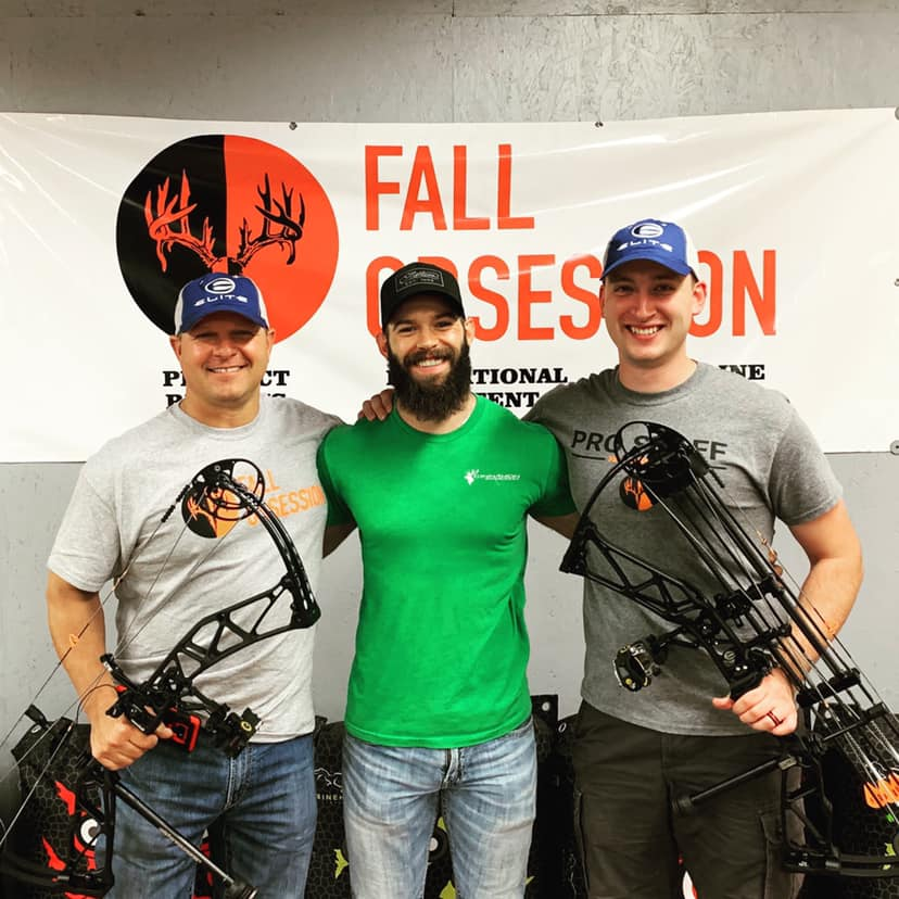 Cinnamon Creek does it again!  Bow Tech Michael Peterman (center) got Chester and Sam's new Elite Ritual bows ready to rock and roll!