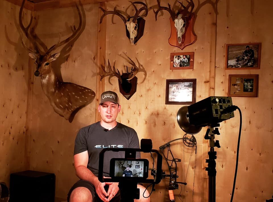 Filming interviews for Chapter 3 of Fall Obsessed Outdoors, airing October of 2019