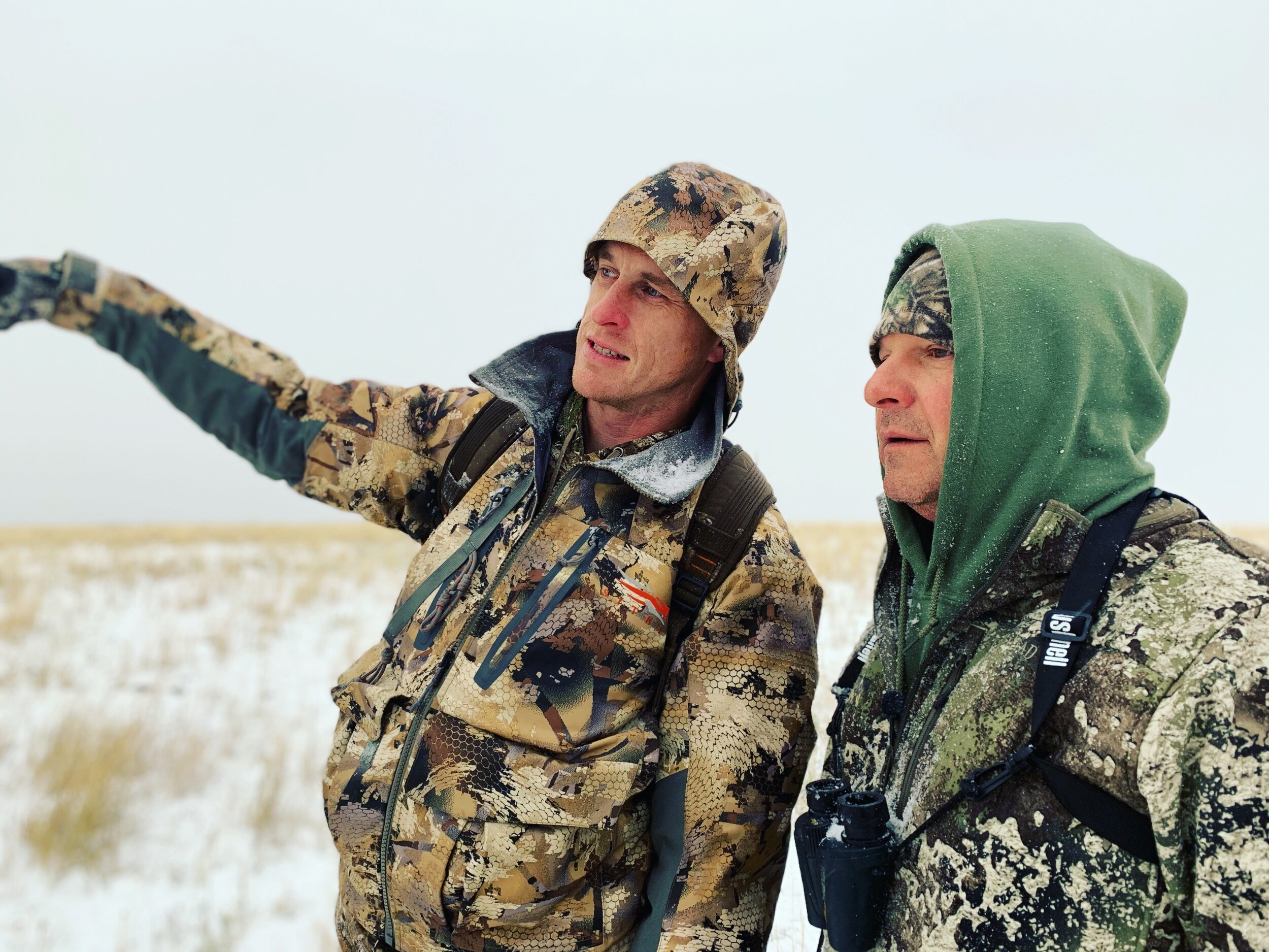 Day 1 of our 2019 Montana Pronghorn hunt.  Admins Drew Tvrdik (left) and Chester Barnes pictured