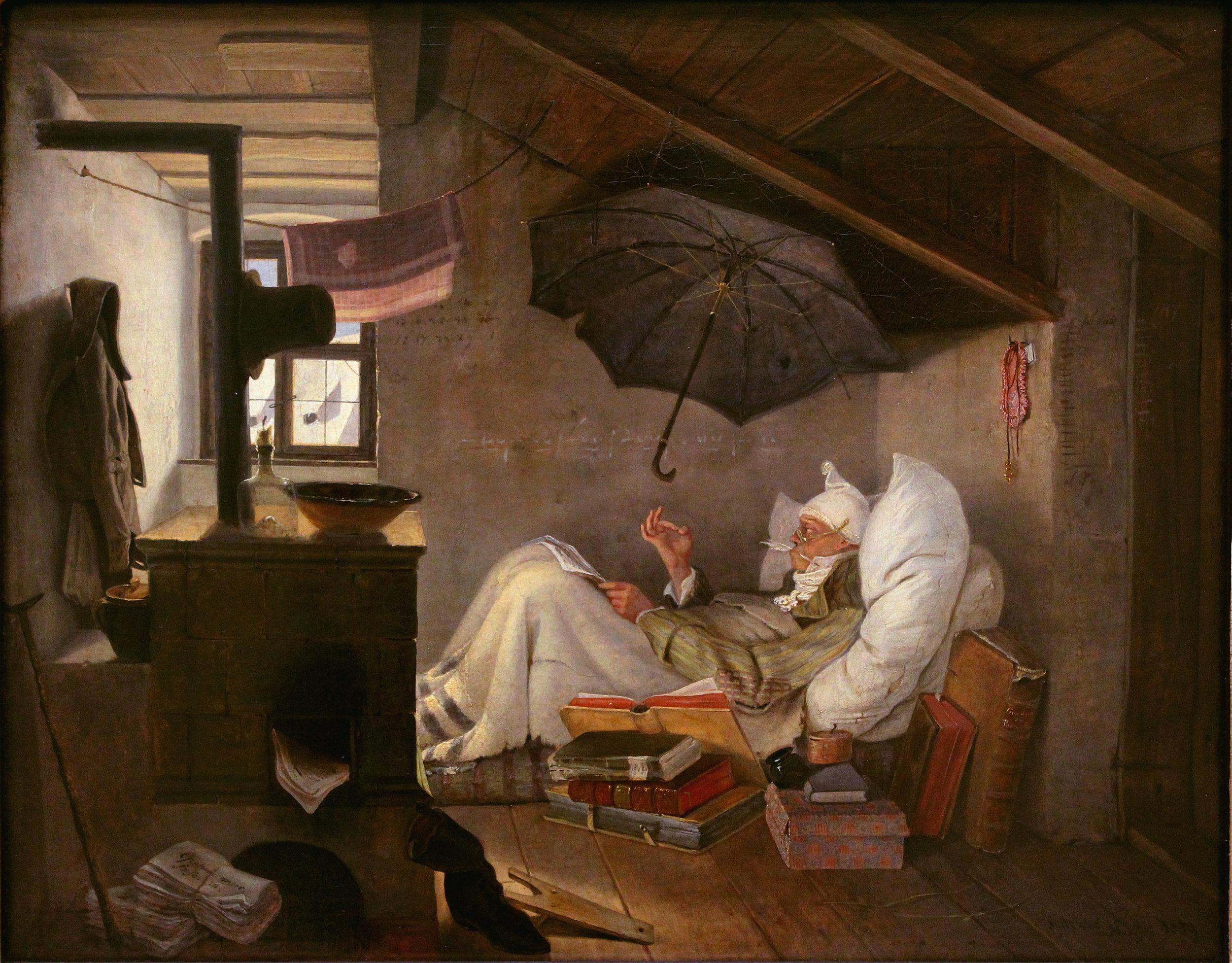 """Carl Spitzweg, """"Der arme Poet"""""""
