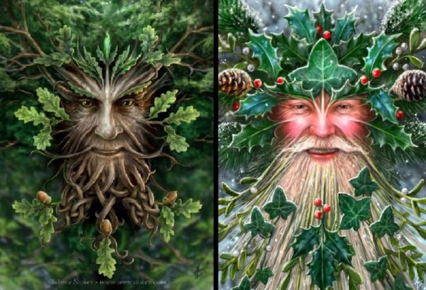 The Oak King and the Holly King, © Anne Stokes