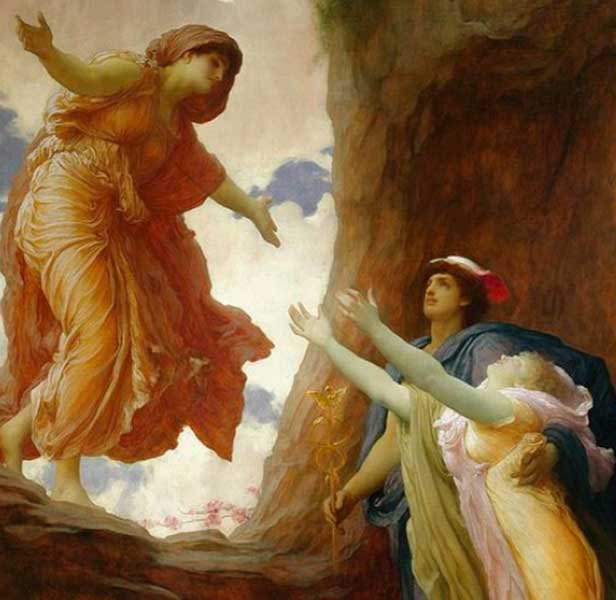 My thrice-great boss, praised be he, leads Persephone back to her frantic mom.
