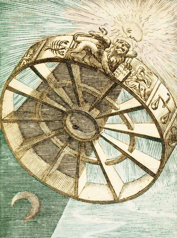 "Detail from ""The Wheel of Fortune Descending,"" 1657."