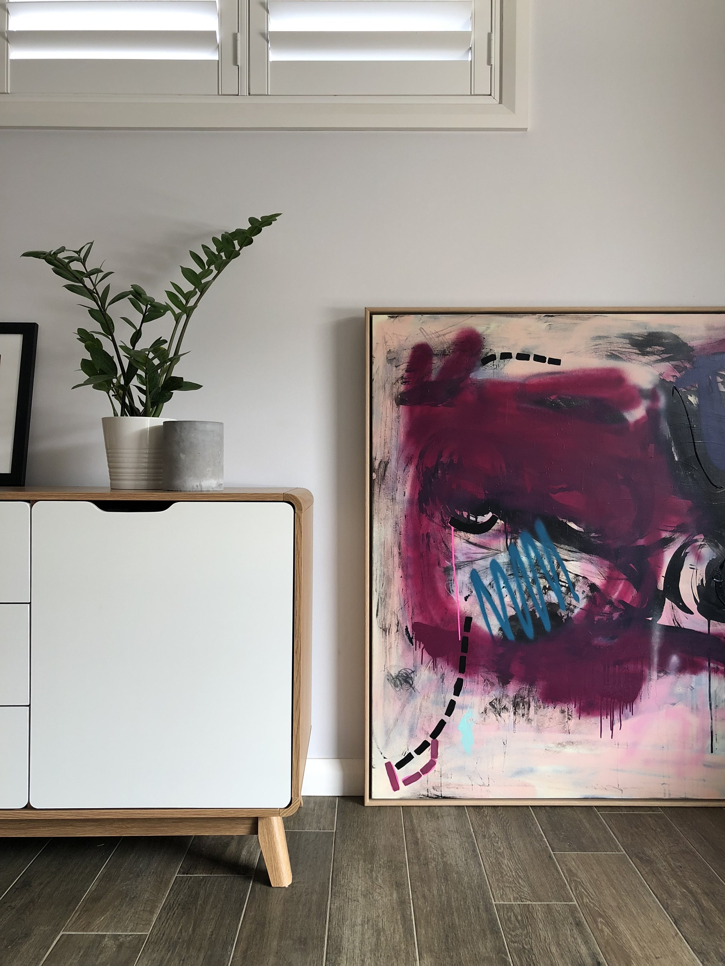 abstract painting in house cameron forsyth