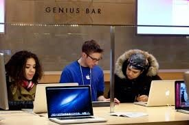 """Apple have so many geniuses they have them fixing MacBooks. All I have  is a post-it note with """"Money = Good"""" scribbled on it."""