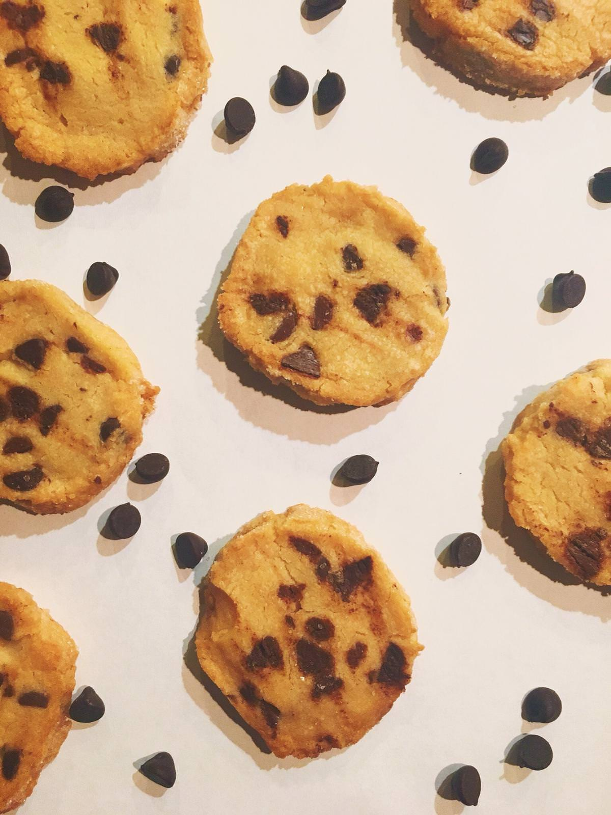 These salted chocolate chip shortbread cookies are out of this world! This is the BEST cookie recipe out there!