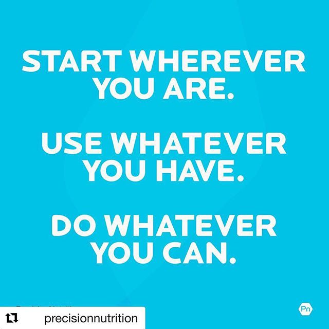 """This is a great Tuesday Tip ... do what do can today with what you have. It doesn't always have to be perfect.   Great reminder for traveling as well. 💥  #Repost @precisionnutrition with @get_repost ・・・ ... What if I can't do an exercise? ... What if I get sick? ... What if I only have 20 minutes? ... What if I get off track?⠀ - 🤹🏻♀️🤹🏽♂️Life gets busy. Obstacles come up. You won't be """"perfect"""" with your workout routine. We totally get it. - 💥Our mantra: Do whatever you can, whenever you can do it, in any way possible. Just keep moving. - 🔑 There is no """"track"""" to get off of. There is only right now. Today. - 🤔So the question becomes: What CAN you do right now to get moving?  #happiness #behappy #love #instagood #healthyliving #fuelyourbody #eatright #playtowin #eattowin #losing #weightlossmotivation #inspiredaily #womenhelpingwomen  #fitnessover40  #tuesdaytip #eathealthy #dowhatyoucantoday"""