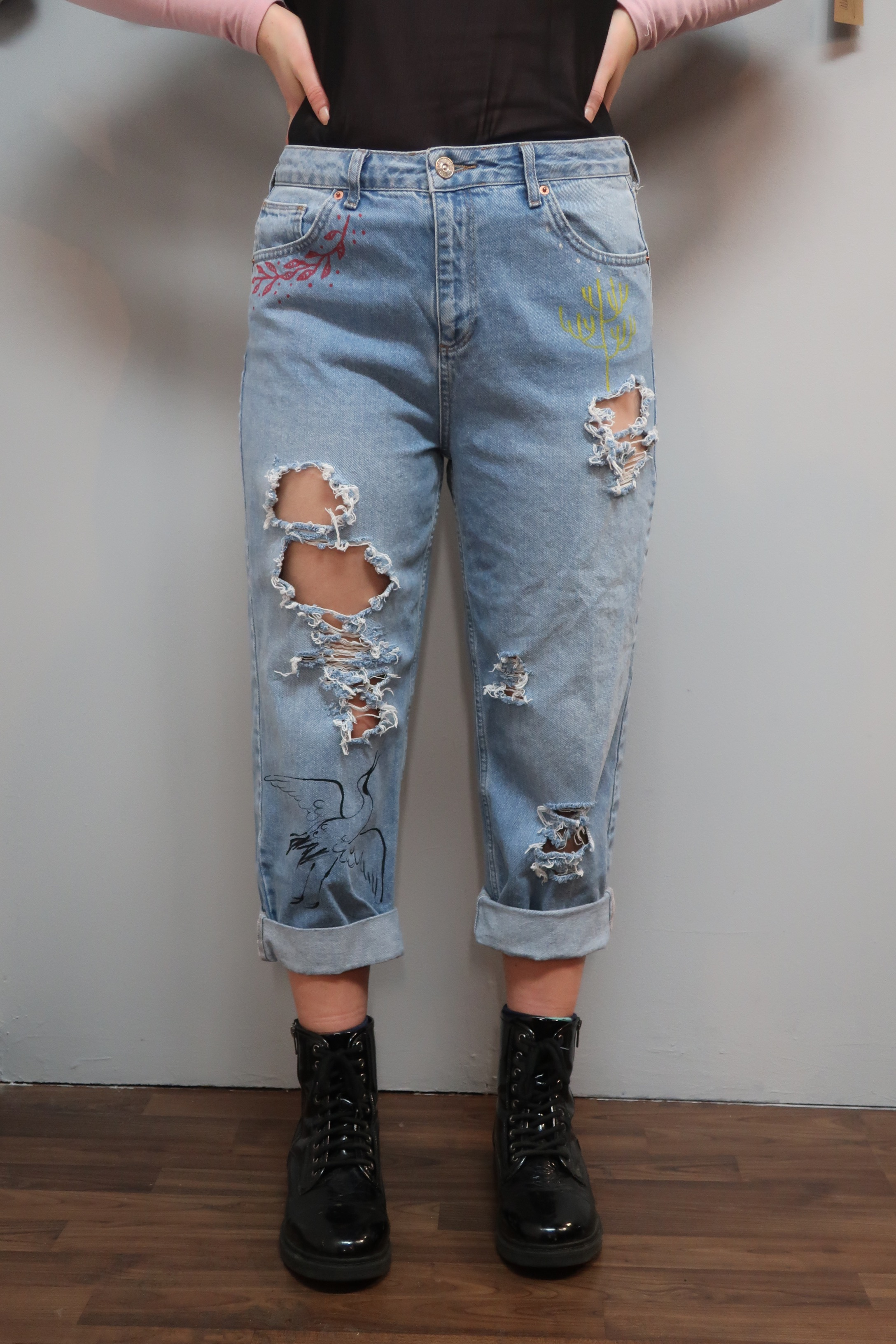 Collaborative Denim Jeans project by Alba Rey, Be tattoo .jpeg