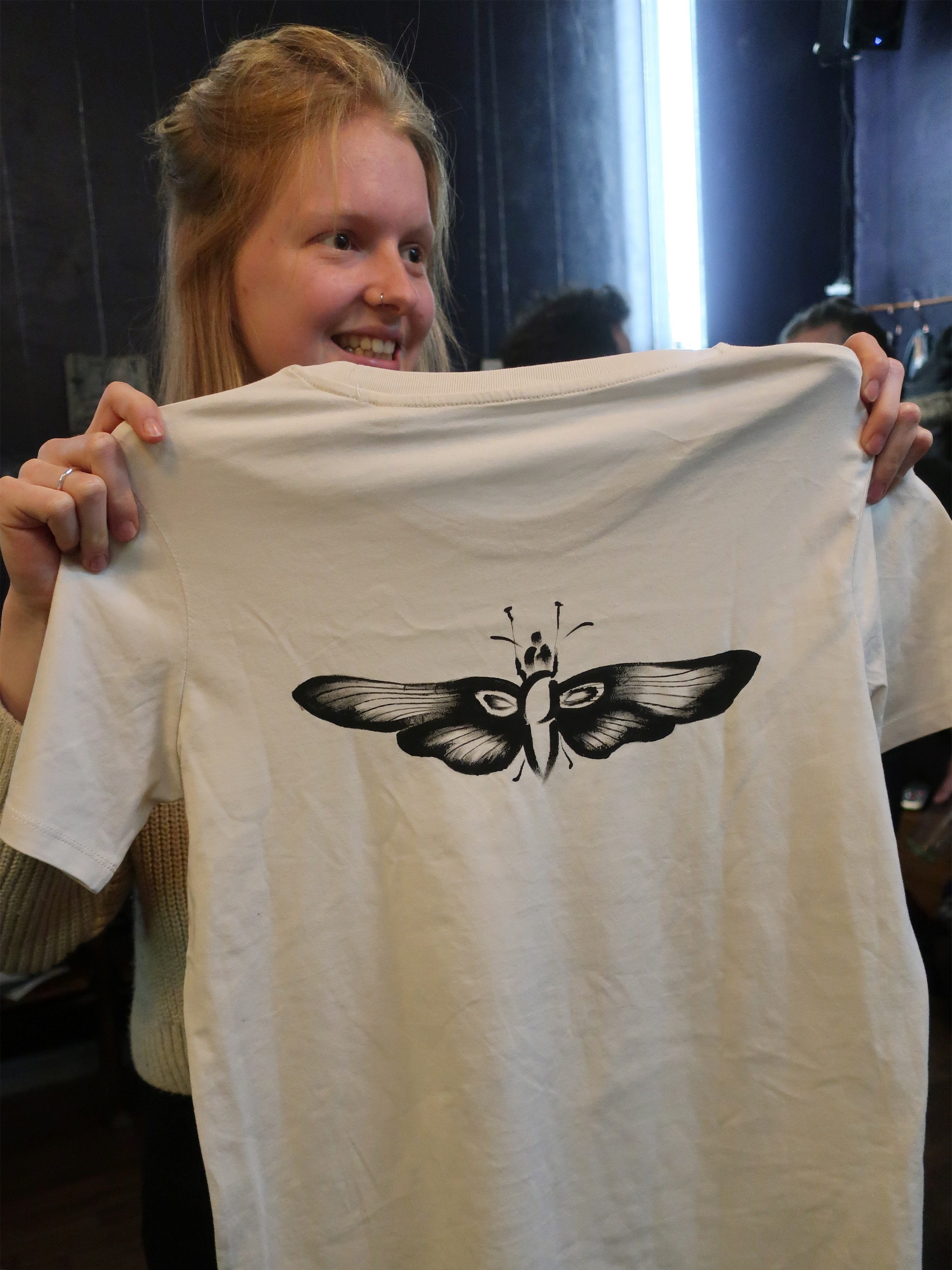 Handpainted moth tshirt by albareyk.jpeg