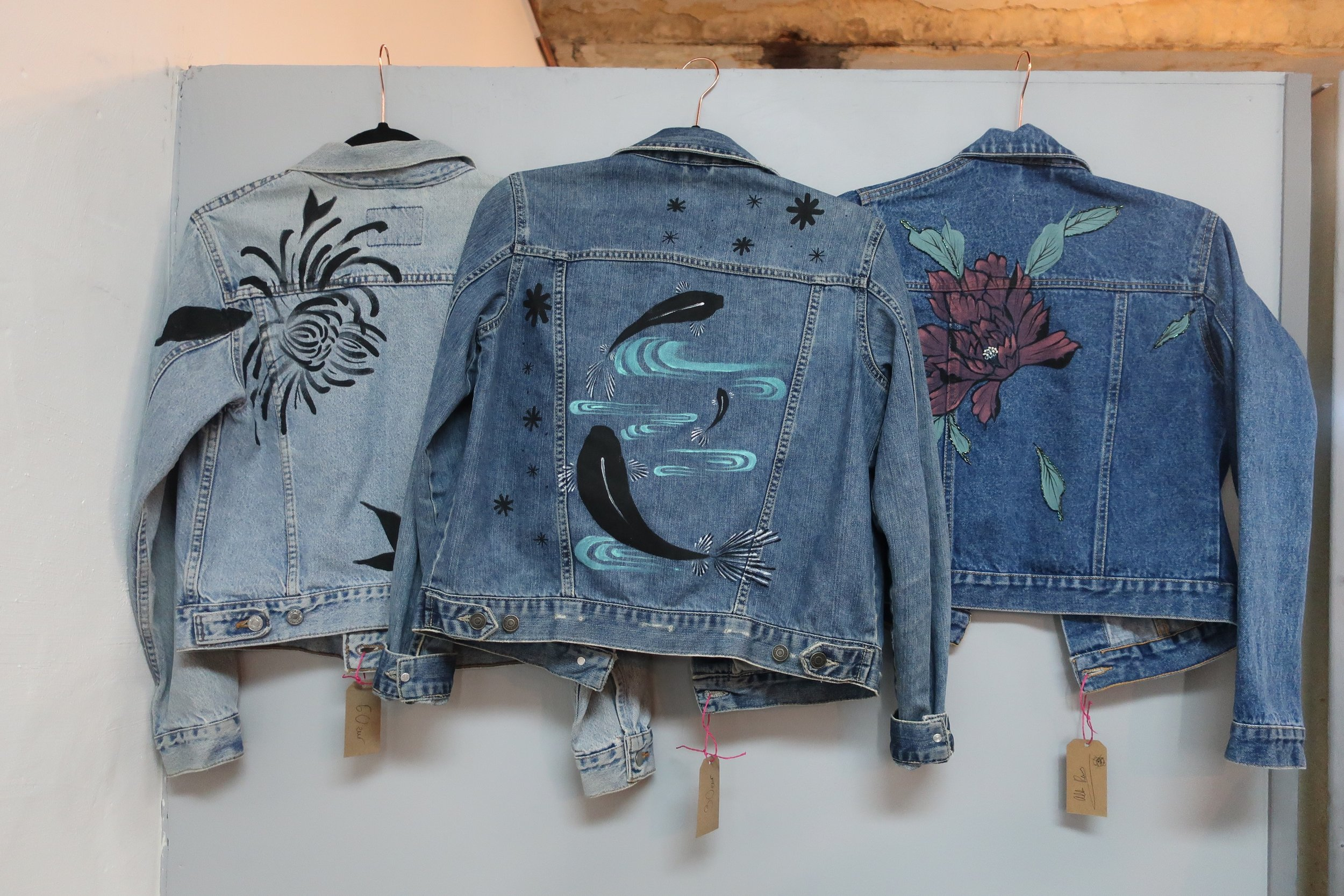 Handpainted Unique one off denim jackets by Alba Rey.jpeg