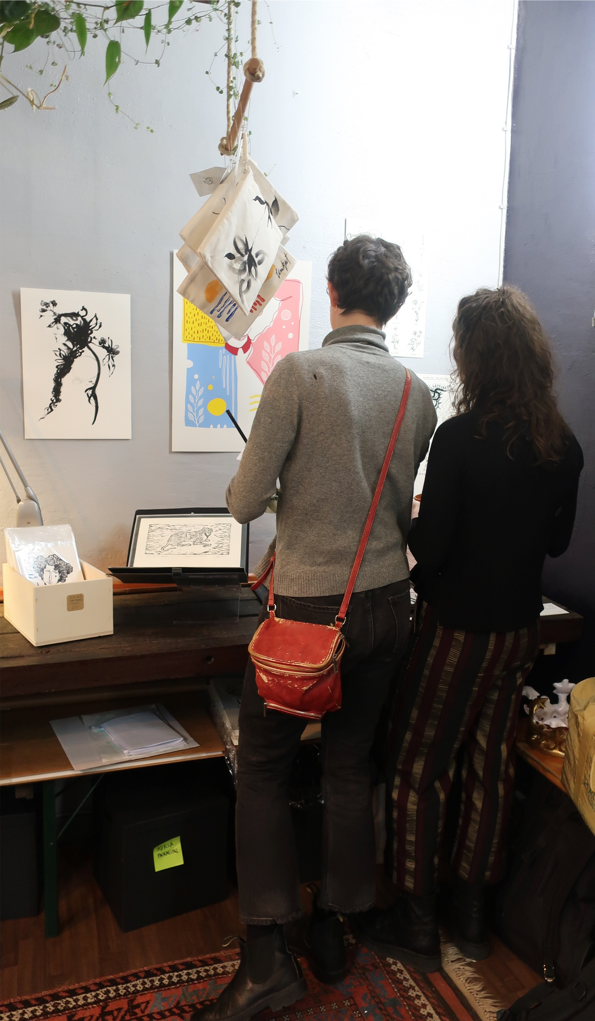 Visitors checking out our limited edition of prints.jpeg