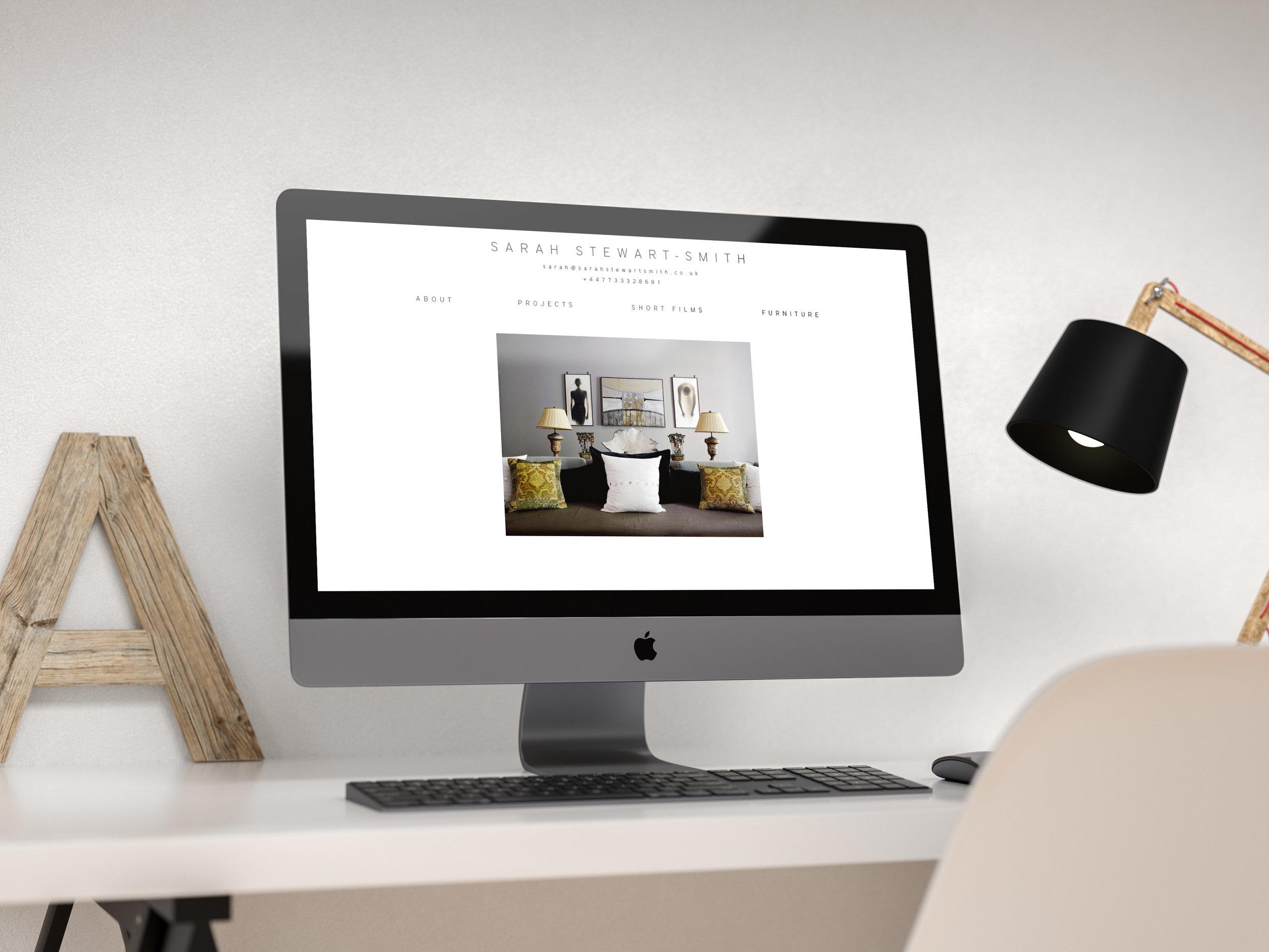 SARAH STEWART-SMITH, WEBSITE DESIGN