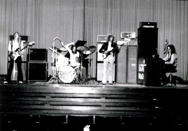"1972 -  DAWN ROAD  rehearsal at Langenhagen Realschule, ""Aula"".  This is the same hall, which was later used by Scorpions for rehearsals and where the  SCORPIONS REVISTED  album was recorded in 2013."