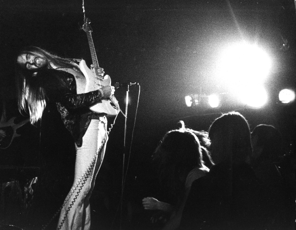 2nd SCORPIONS show at the legendary MARQUEE in London, 29. March 1976.  David Gilmour, Michael Schenker, Gary Moore and Monika Dannemann were in the audience.