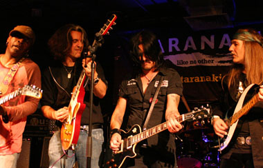 Jam Session with TONY MAC ALPINE, ALEX SKOLNIK, GILBY CLARKE New Zealand, 1st G-Taranaki Festival, 19. July 2008