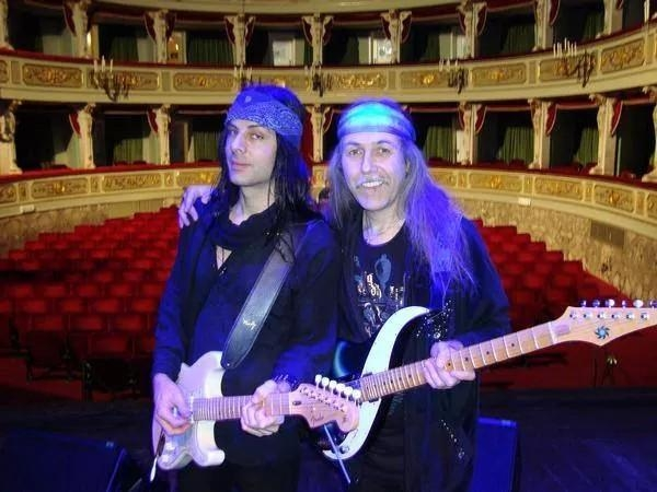 Touring ITALY with RICHIE KOTZEN - L'Aquila, Teatro Communale, 3. Dec 2008  (This beautiful theater was completely destroyed by a terrible earthquake  only 3 months after this picture was taken.)