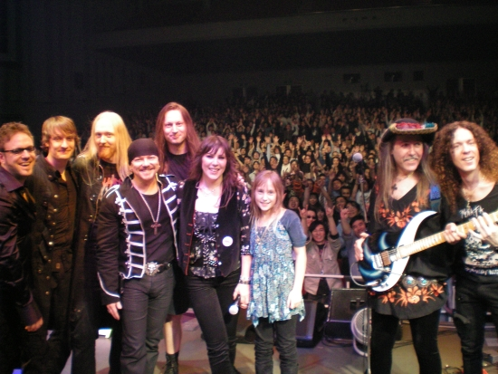 """UNDER A DARK SKY"" TOUR -   & MARTY FRIEDMAN, MARK BOALS,  LIZ VANDALL,  Tokyo, Sun Plaza Hall,  Nov. 12, 2008"