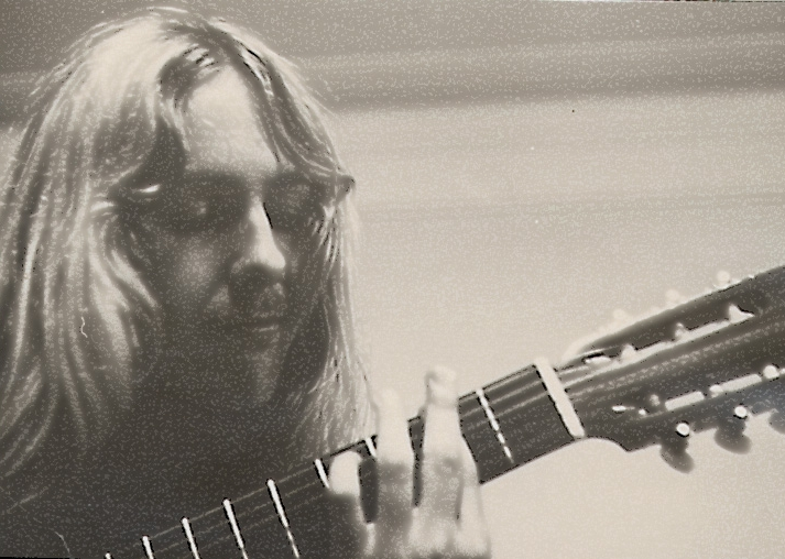 Uli with his classical guitar, Summer 1971