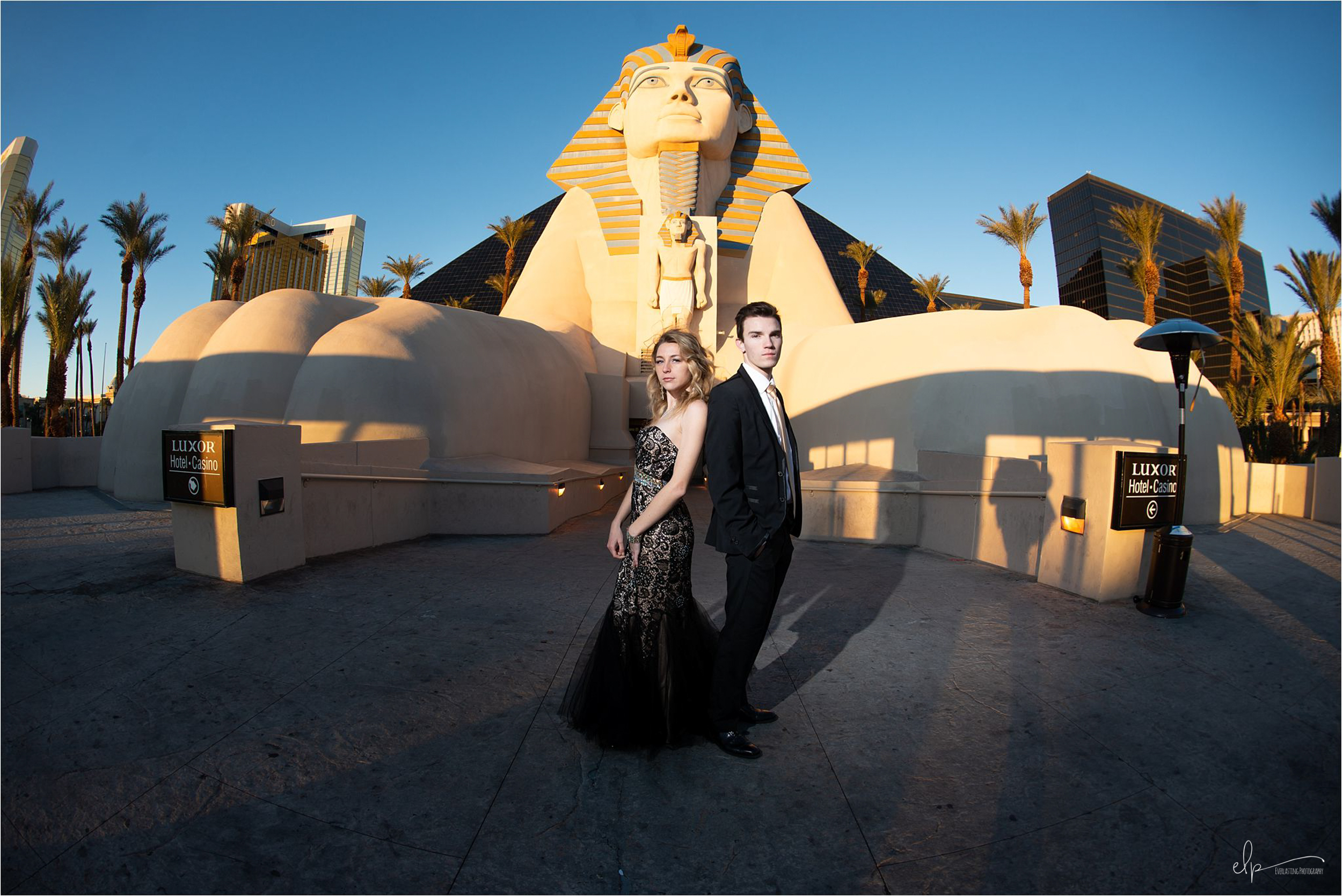 Engagement shoot at Las Vegas Luxor Hotel & Casino.