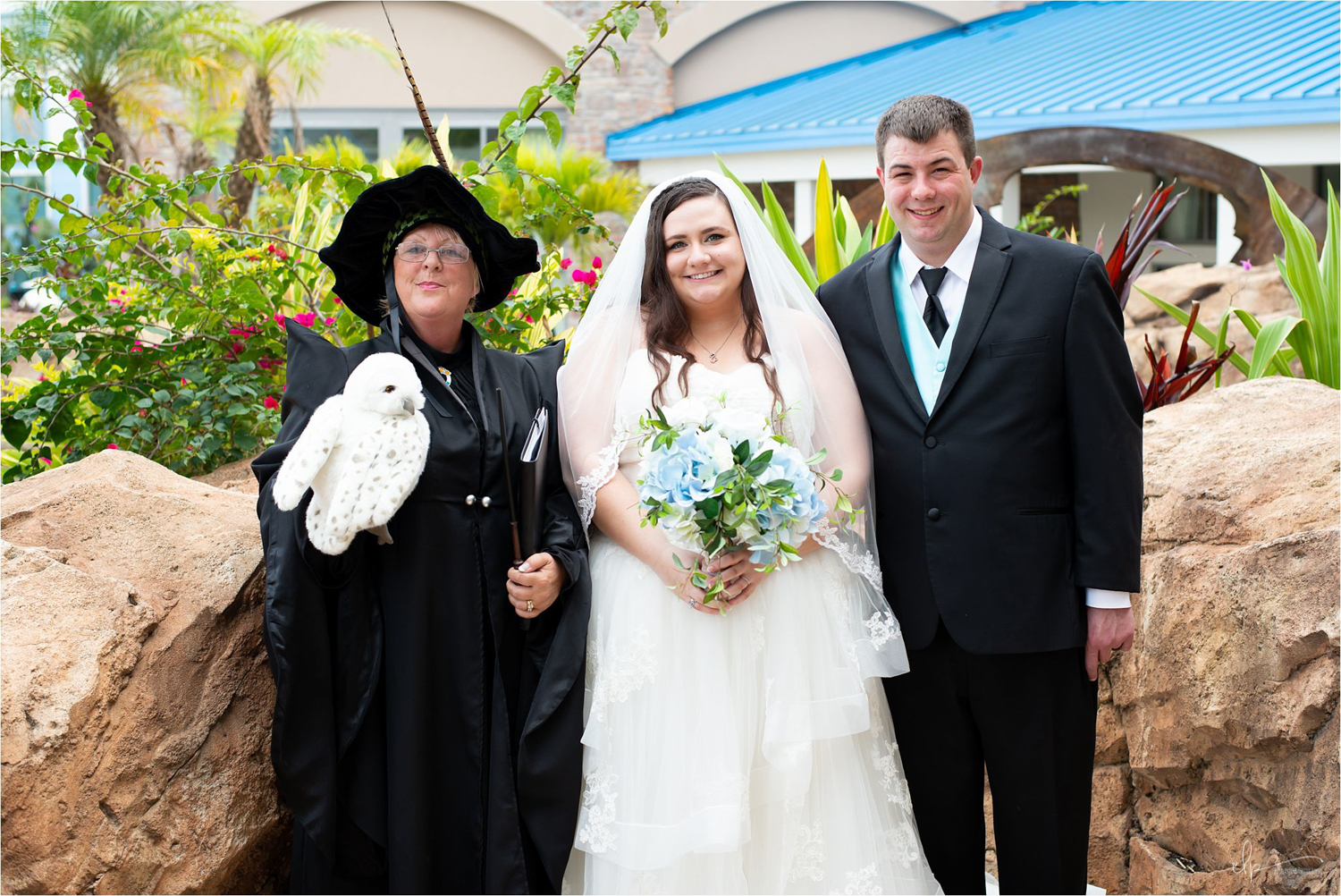 Harry Potter theme wedding officiant.