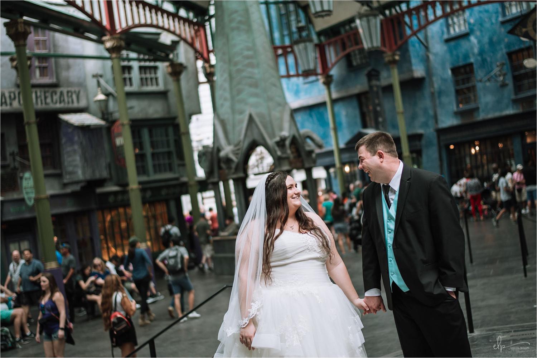 Diagon Alley wedding photos