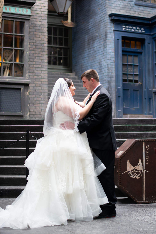 Wedding photos at Universal Studios