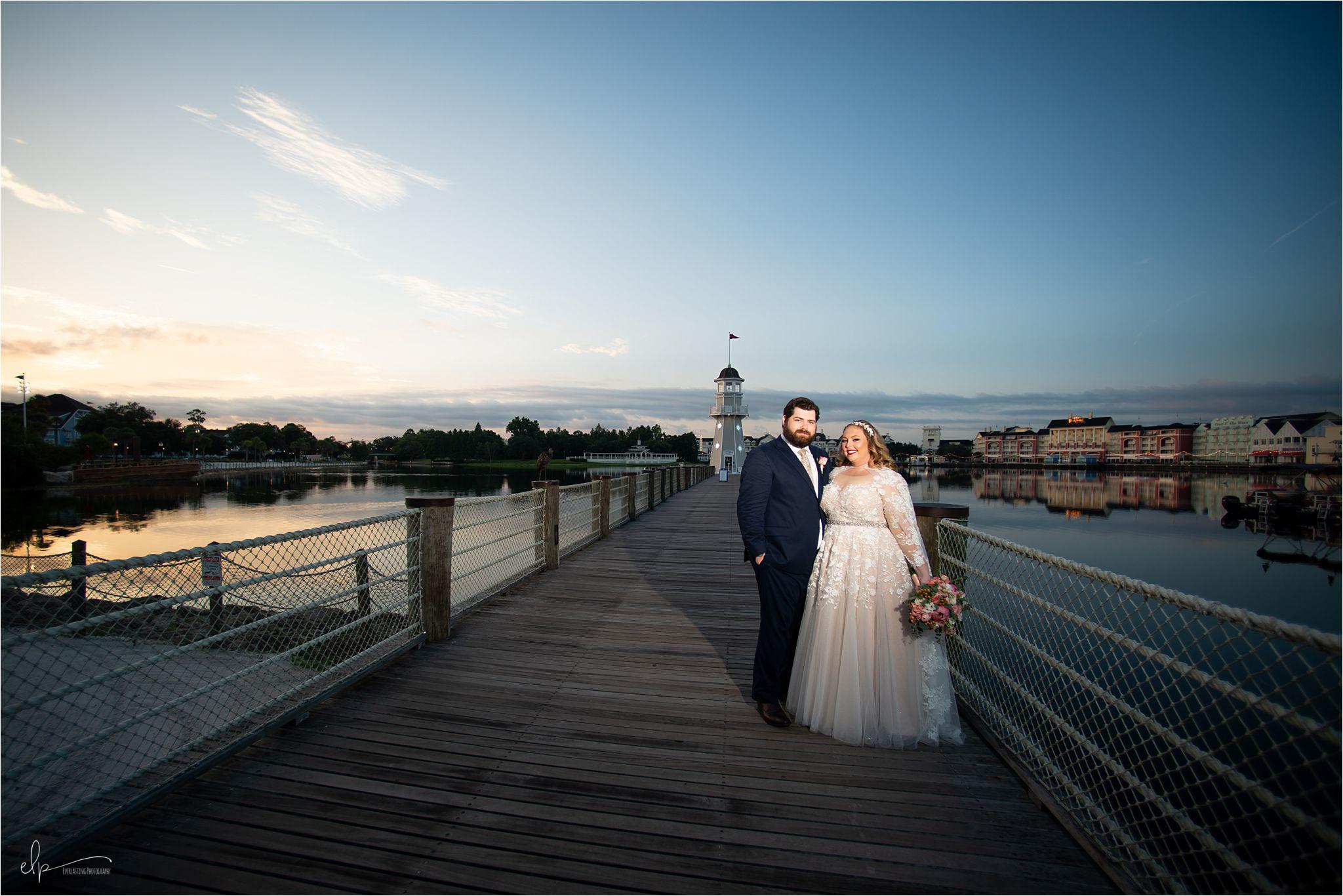 Wedding photos at Disney's Beach Club