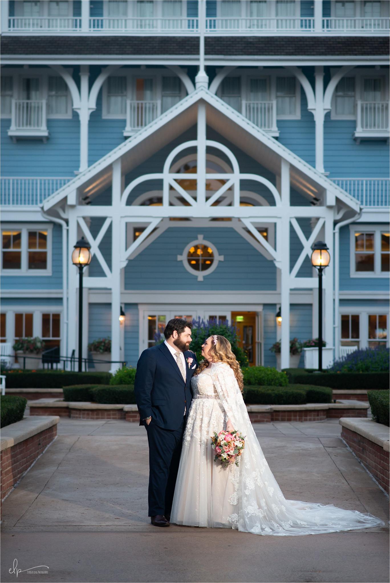 Wedding portraits at Disney's Beach Club Resort.