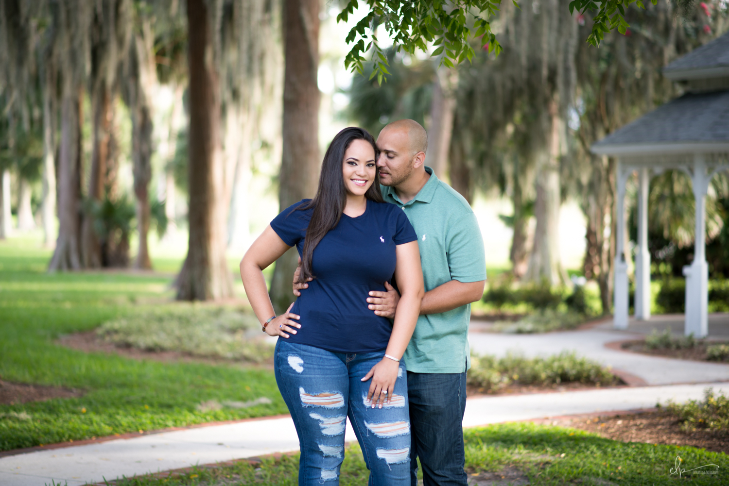 Engagement photography at cypress grove park