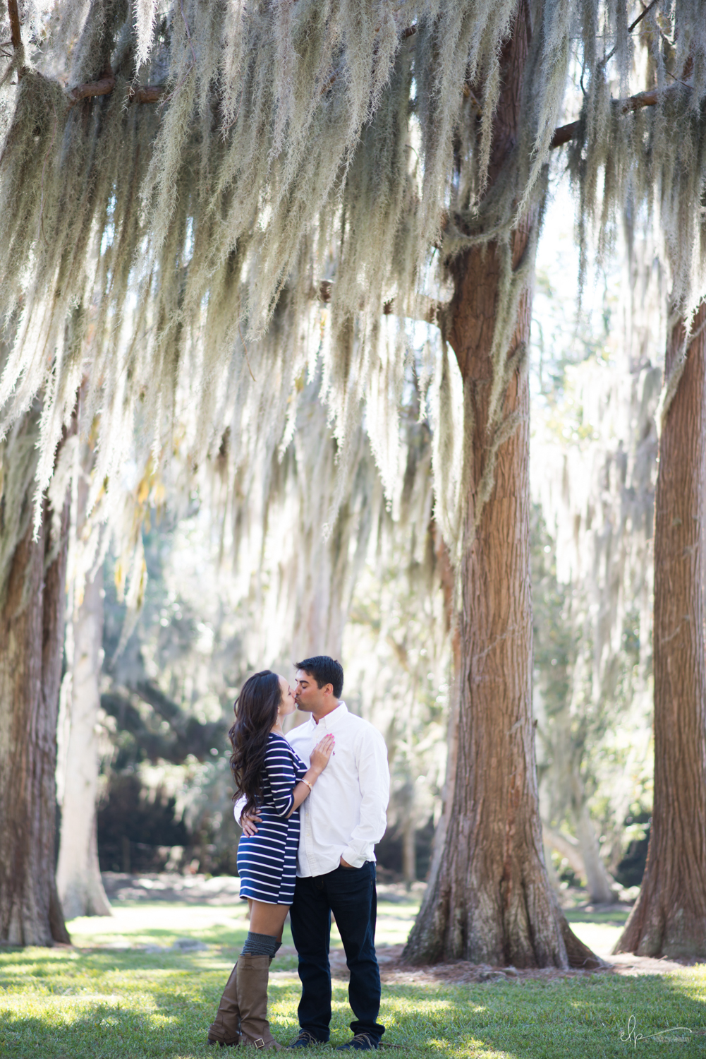 Engagement session at cypress grove park