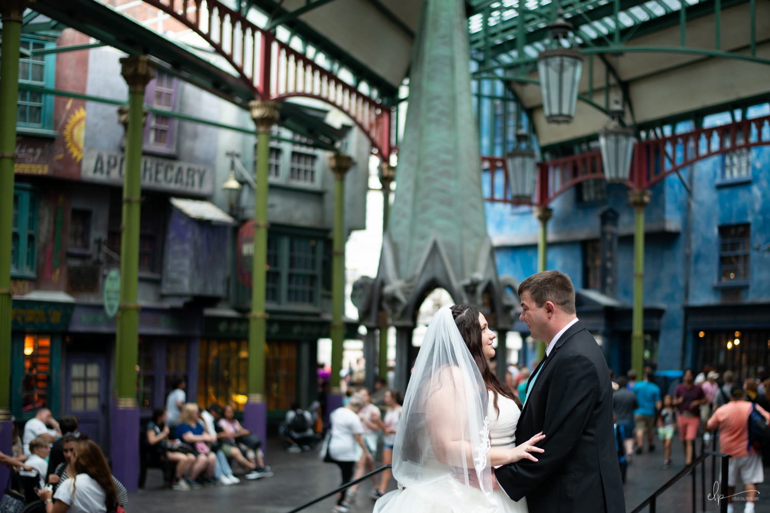 Wedding and engagement session location in Harry Potter's Diagon