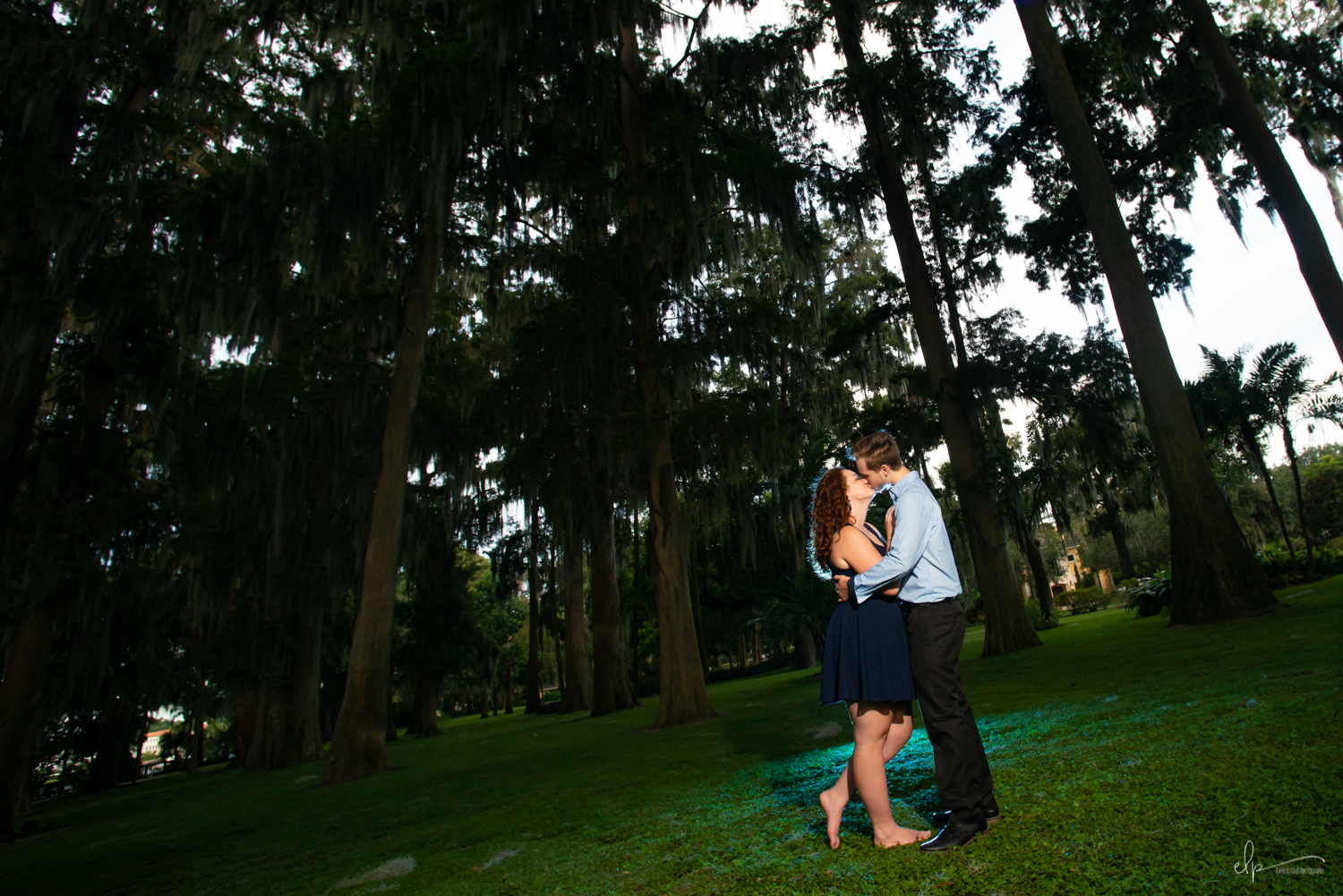 Engagement photographer in winter park.