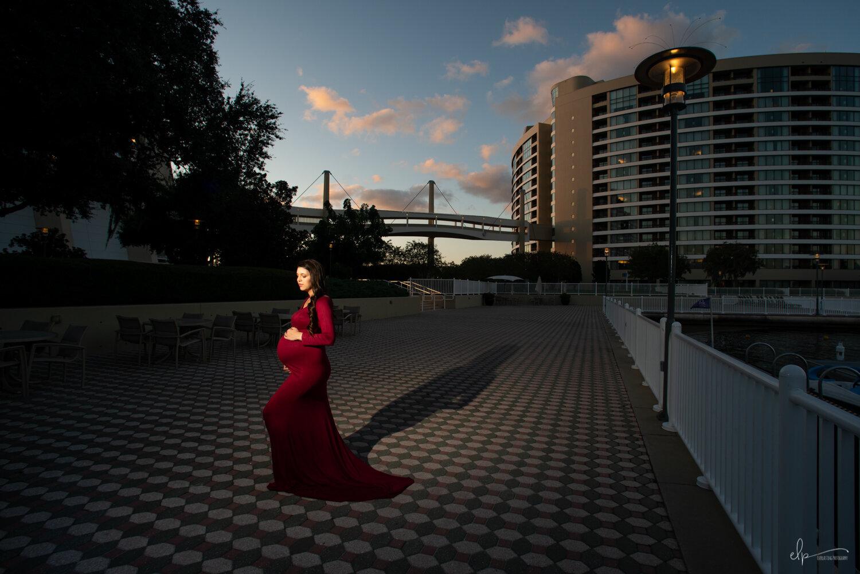 Maternity Portrait Shoot At Disney's Bay Lake Tower
