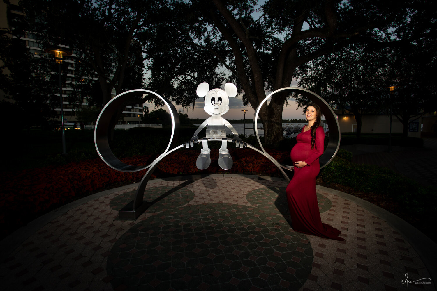Maternity Portrait Photography At Disney's Contemporary Resort