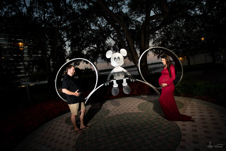 Maternity Portrait Photographer At Disney's Contemporary Resort