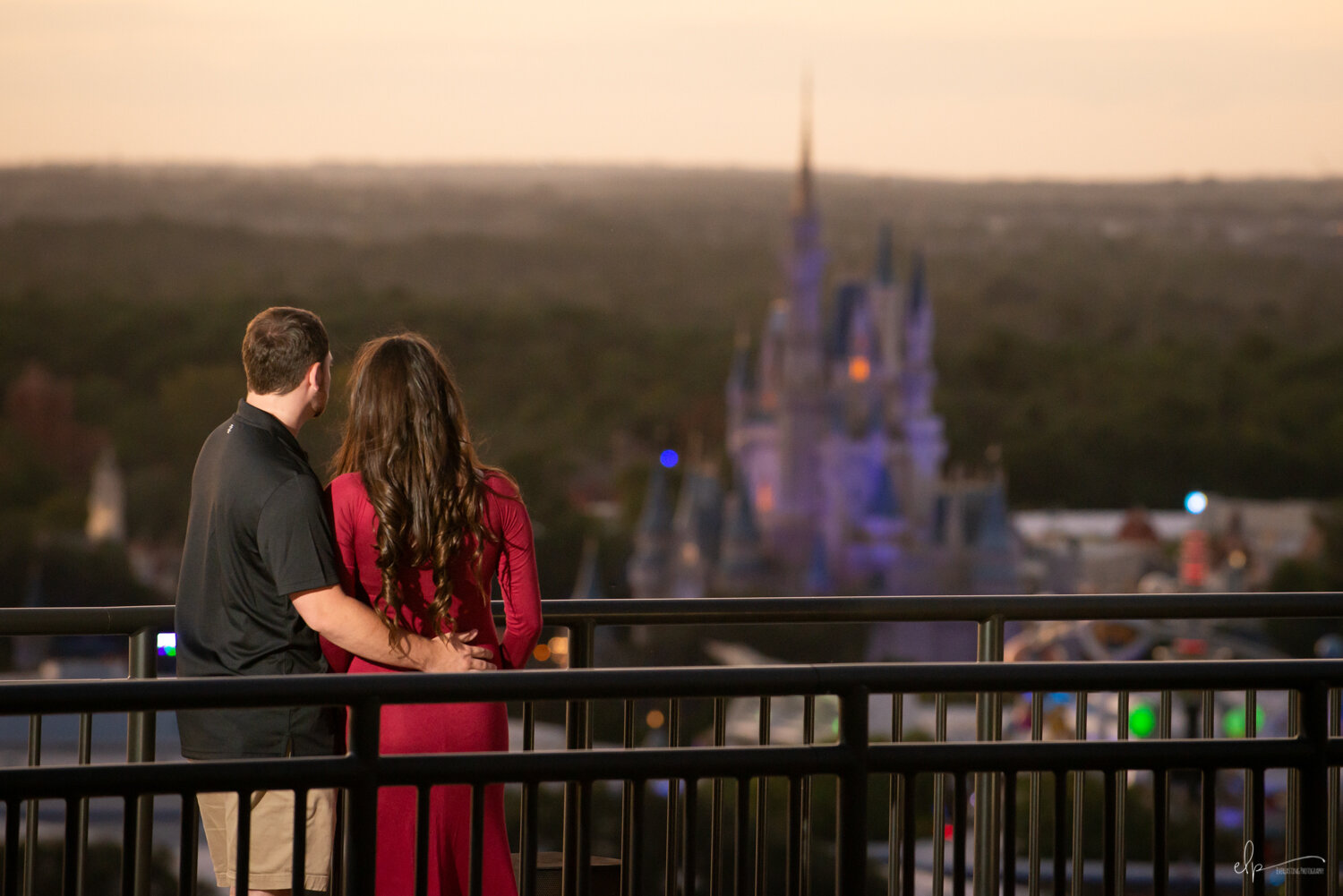Engagement Portrait Photography At Disney's Contemporary Resort