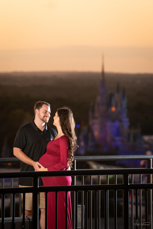 Engagement Portrait Photos At Disney's Contemporary Resort