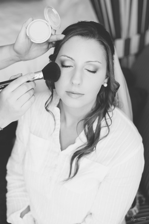 Bride getting ready wedding photos on disney cruise line