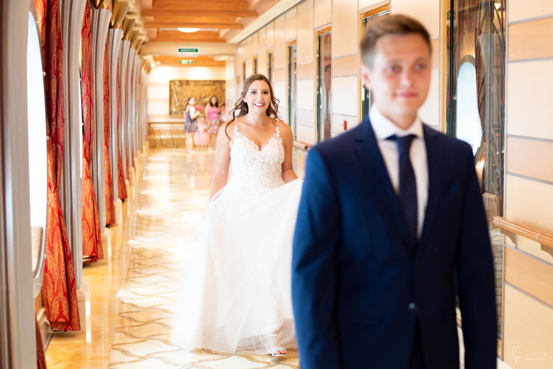 First look wedding photographer on disney cruise line