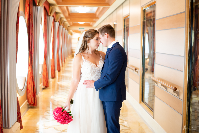 First look wedding photos on disney cruise line