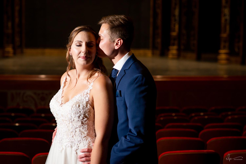 Walt disney theater wedding photographs on disney dream cruise